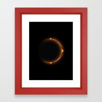 Burger Eclipse Framed Art Print