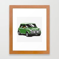 Mini Cooper Car - Britis… Framed Art Print