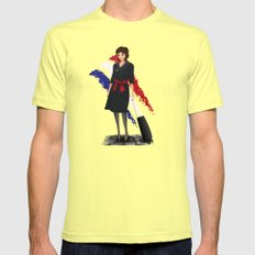 Come fly with me, let's fly, let's fly away - France Mens Fitted Tee Lemon SMALL