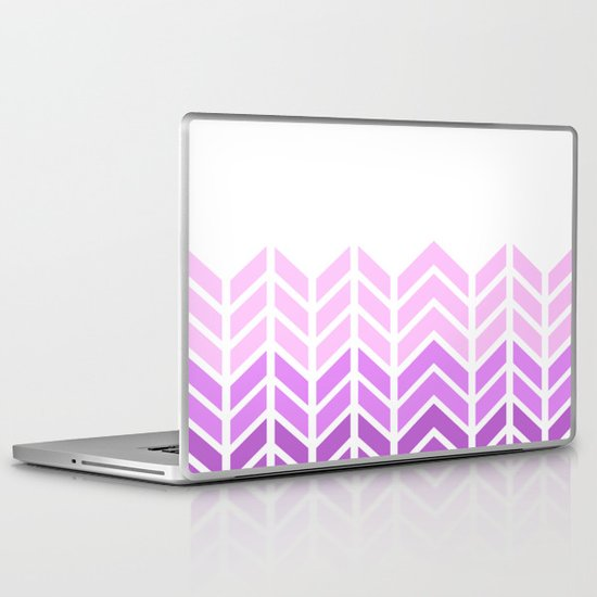 OMBRE LACE CHEVRON 2 Laptop & iPad Skin