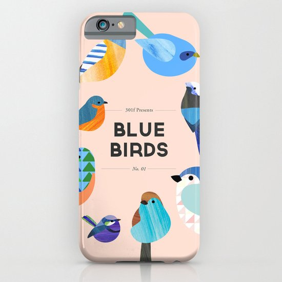 Blue Birds iPhone & iPod Case