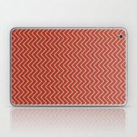 Chevron - Blue|Orange|Re… Laptop & iPad Skin