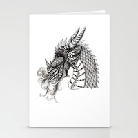 dragon Stationery Cards featuring Dragon by Elisa Camera