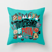 Time Bomb of Pain Throw Pillow