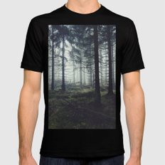 Through The Trees Mens Fitted Tee Black SMALL