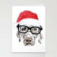 Christmas Weimaraner Stationery Cards