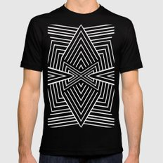 X SMALL Mens Fitted Tee Black