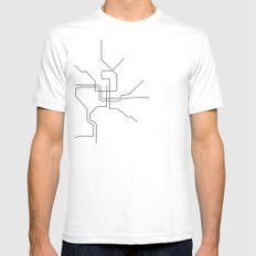 DC Metro White Mens Fitted Tee SMALL