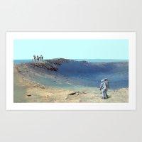 Cosmos & Indians Art Print