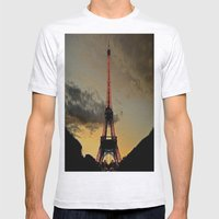 Tower Sunset Mens Fitted Tee Ash Grey SMALL
