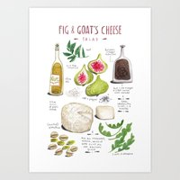 Illustrated Recipes: Fig… Art Print