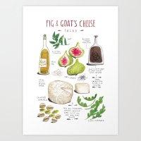 Illustrated Recipes: Fig… Art Print