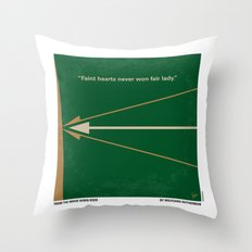 No237 My Robin Hood minimal movie poster Throw Pillow