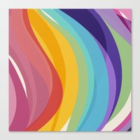 Fig. 045 Colorful Swirls Canvas Print