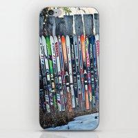 Skis iPhone & iPod Skin