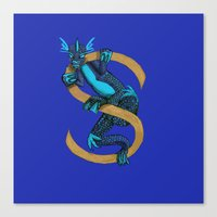S is for Suiko Animal Alphabet Canvas Print