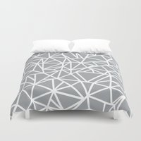 Abstract Outline Thick W… Duvet Cover