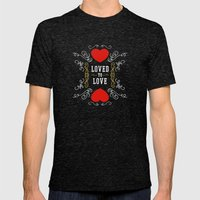 Loved to Love Mens Fitted Tee Tri-Black SMALL