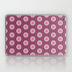 Marsala and Grey Zigzag Flower Kaleidoscope Pattern Laptop & iPad Skin