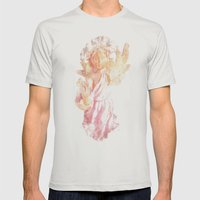 Broken Angel Mens Fitted Tee Silver SMALL