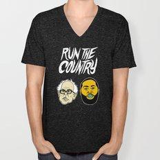 Run The Country Unisex V-Neck