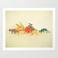 Walking With Dinosaurs Art Print