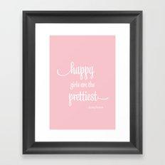 Happy Girls Framed Art Print