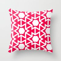 Zoutman Neon Pink Patter… Throw Pillow