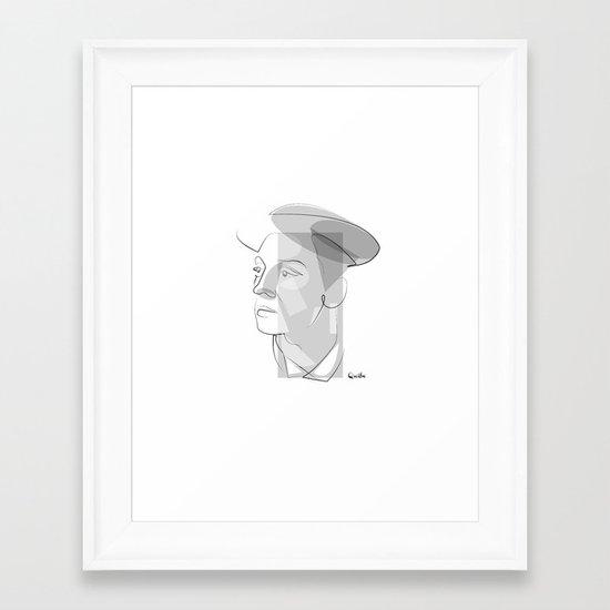 Buster Keaton: portrait Framed Art Print