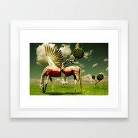 Pegasus Divided Framed Art Print