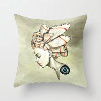 Moth 2 Throw Pillow