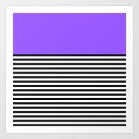 STRIPE COLORBLOCK {PURPLE} Art Print