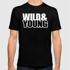 Wild & Young Black SMALL Mens Fitted Tee