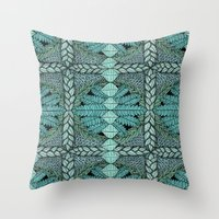 Ink Pattern No.3 Throw Pillow
