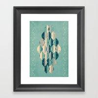 50's floral pattern IV Framed Art Print