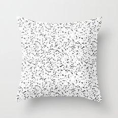 Speckles I: Double Black on White Throw Pillow