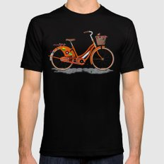Love Holland, Love Bike SMALL Black Mens Fitted Tee