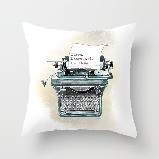 I Will Love.  Throw Pillow