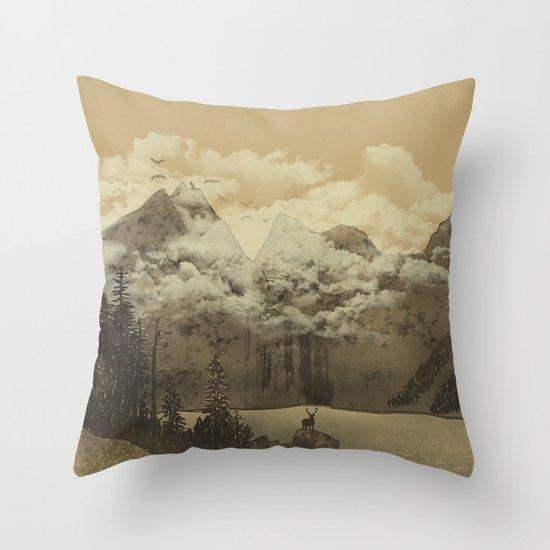 The Mountain Lake Throw Pillow