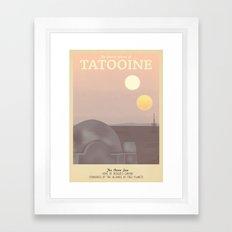 Retro Travel Poster Series - Star Wars - Tatooine Framed Art Print