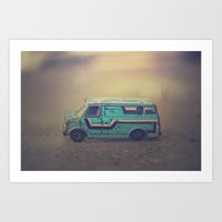 delightful van Art Print