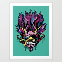 Pirate Demon Warlord Art Print