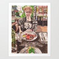 Brunch in Fitzroy Art Print