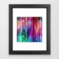 Melting Rainbow Watercol… Framed Art Print