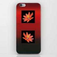 Two Orange Flowers iPhone & iPod Skin