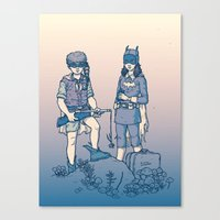 Moonrise Gotham Canvas Print