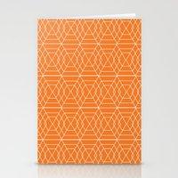 Orange Hex Stationery Cards