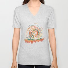 The Geometry of Sunrise Unisex V-Neck