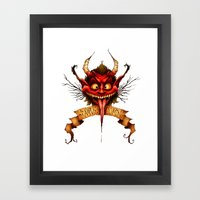 Krampus is Coming Framed Art Print