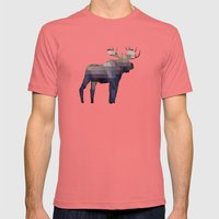 The Moose Mens Fitted Tee Pomegranate SMALL